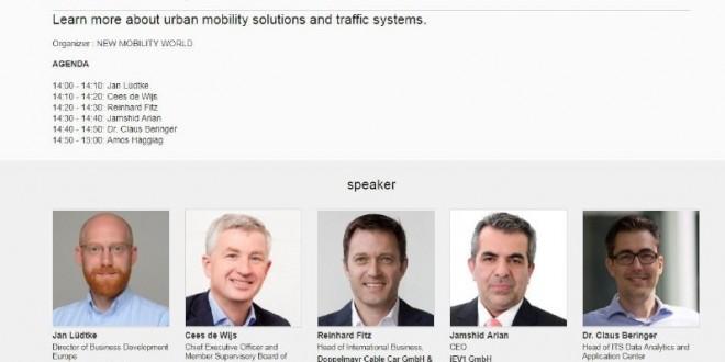 سخنرانی جمشید آرین در نمایشگاه بینالمللی خودرو و آینده سیستم حمل ونقل – IAA