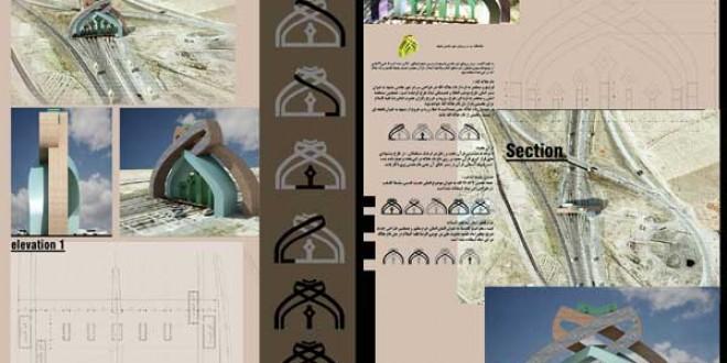 ارائه طرح سردر ورودی مشهد مقدس با رویکرد آرمانشهر رضوی