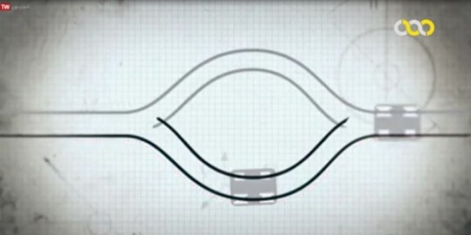 معرفی سوئیچ کارل رومن ابت برای جابجایی دو قطار بر روی یک ریل در سوئیس